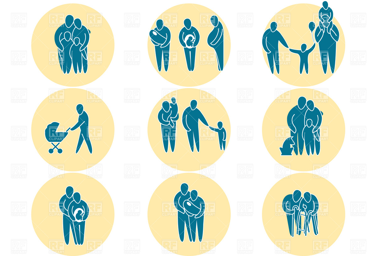 1200x814 Family Icon Set Vector Image Vector Artwork Of People Good