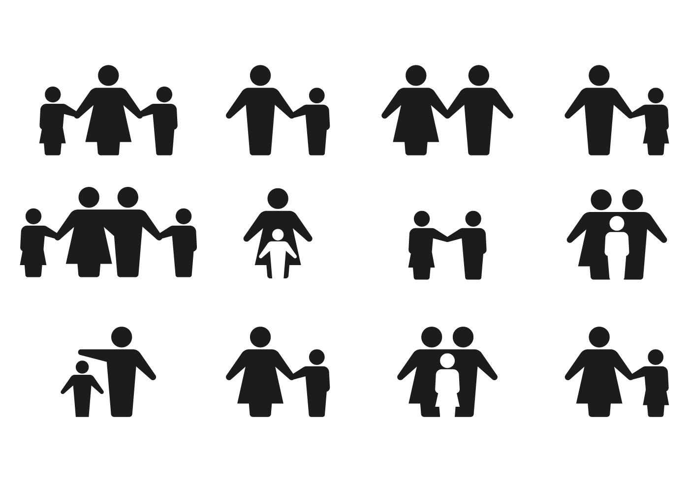 1400x980 Best Silhouette Family Icon Vector Images Free Vector Art