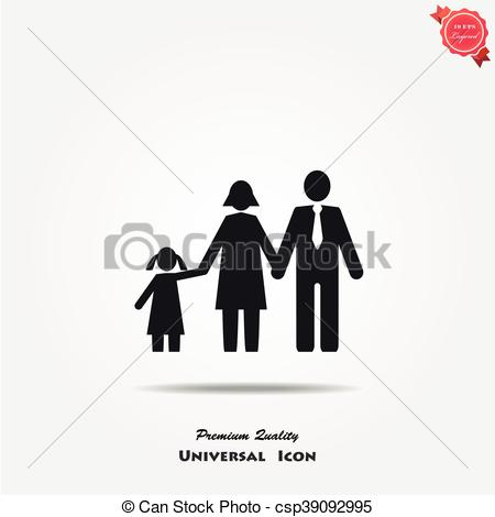 450x470 Family Vector Icon. Family Icon In Trendy Flat Style Isolated On