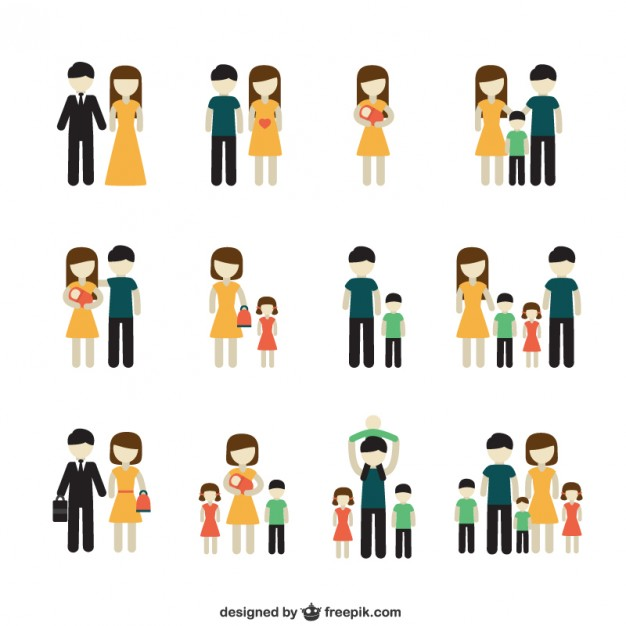 626x626 Variety Of Family Icons Vector Free Download