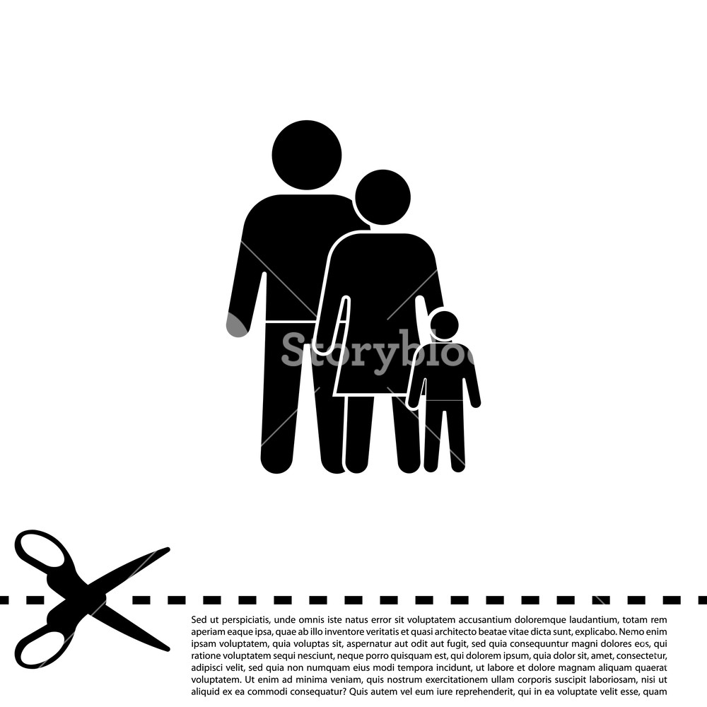 1000x1000 Family Icon. Vector Illustration Royalty Free Stock Image