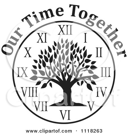 450x470 Cartoon Of A Black And White Family Reunion Tree Clock With Our