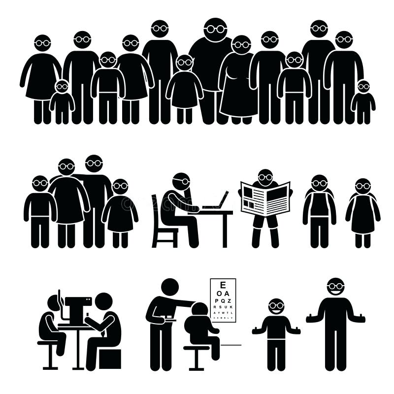 800x800 Families Clip Art Family Tree Silhouette Vector Free Clipart