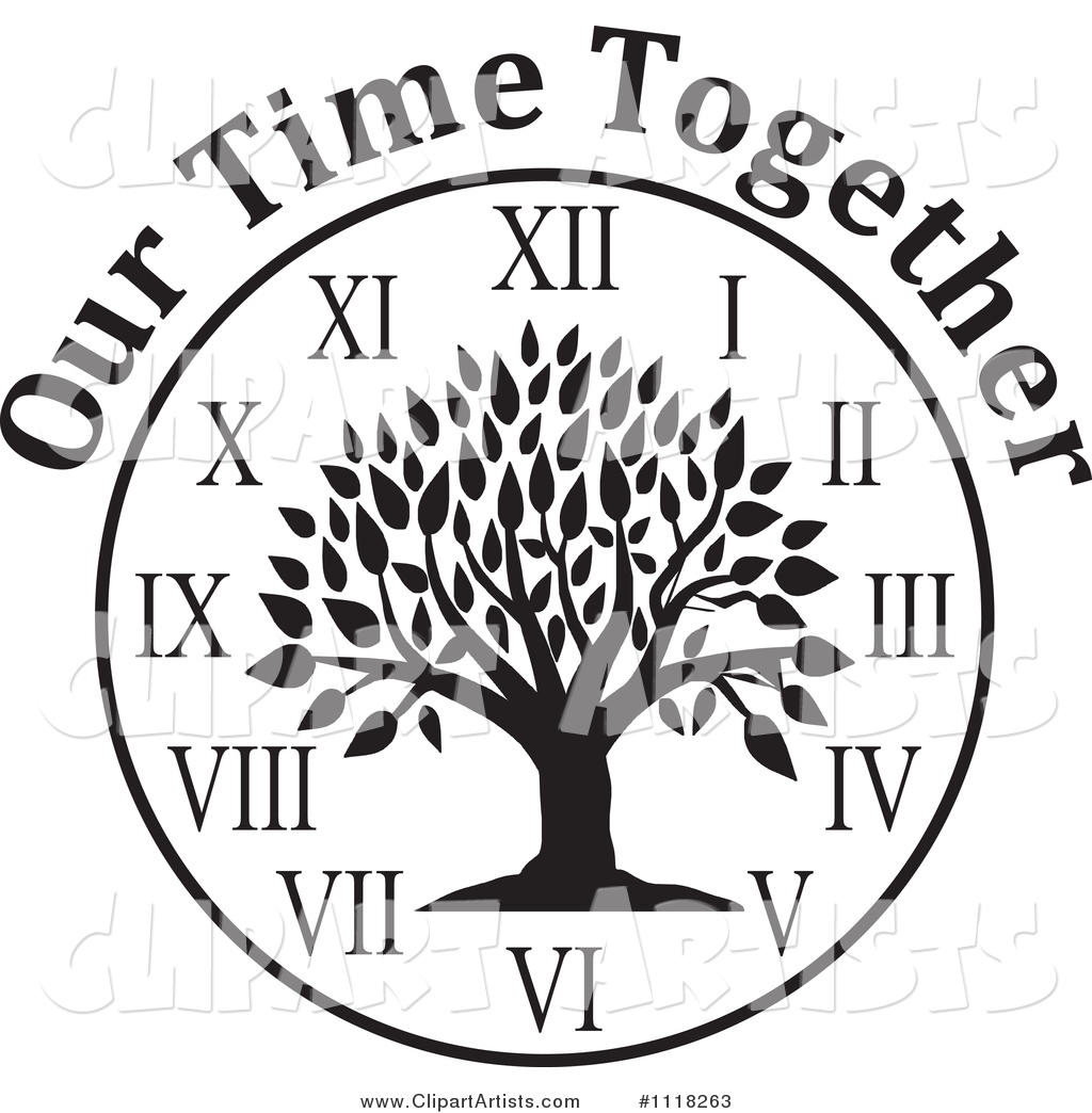 1024x1044 Black And White Family Reunion Tree Clock With Our Time Together