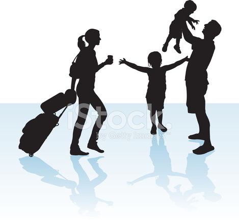 469x439 Family Reunion Or Vacation Travelers Stock Vector
