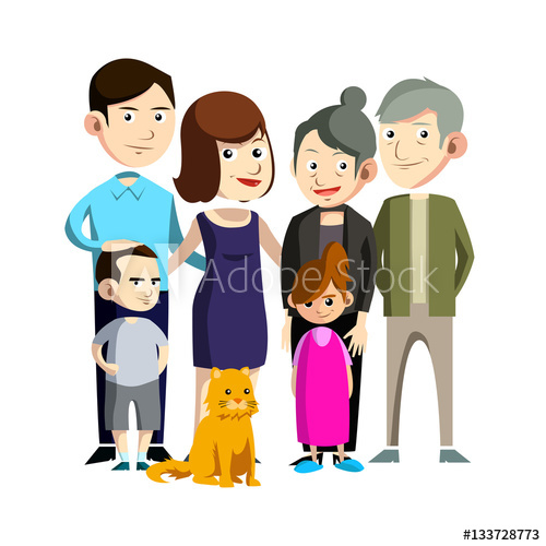500x500 Family Reunion Illustration Design