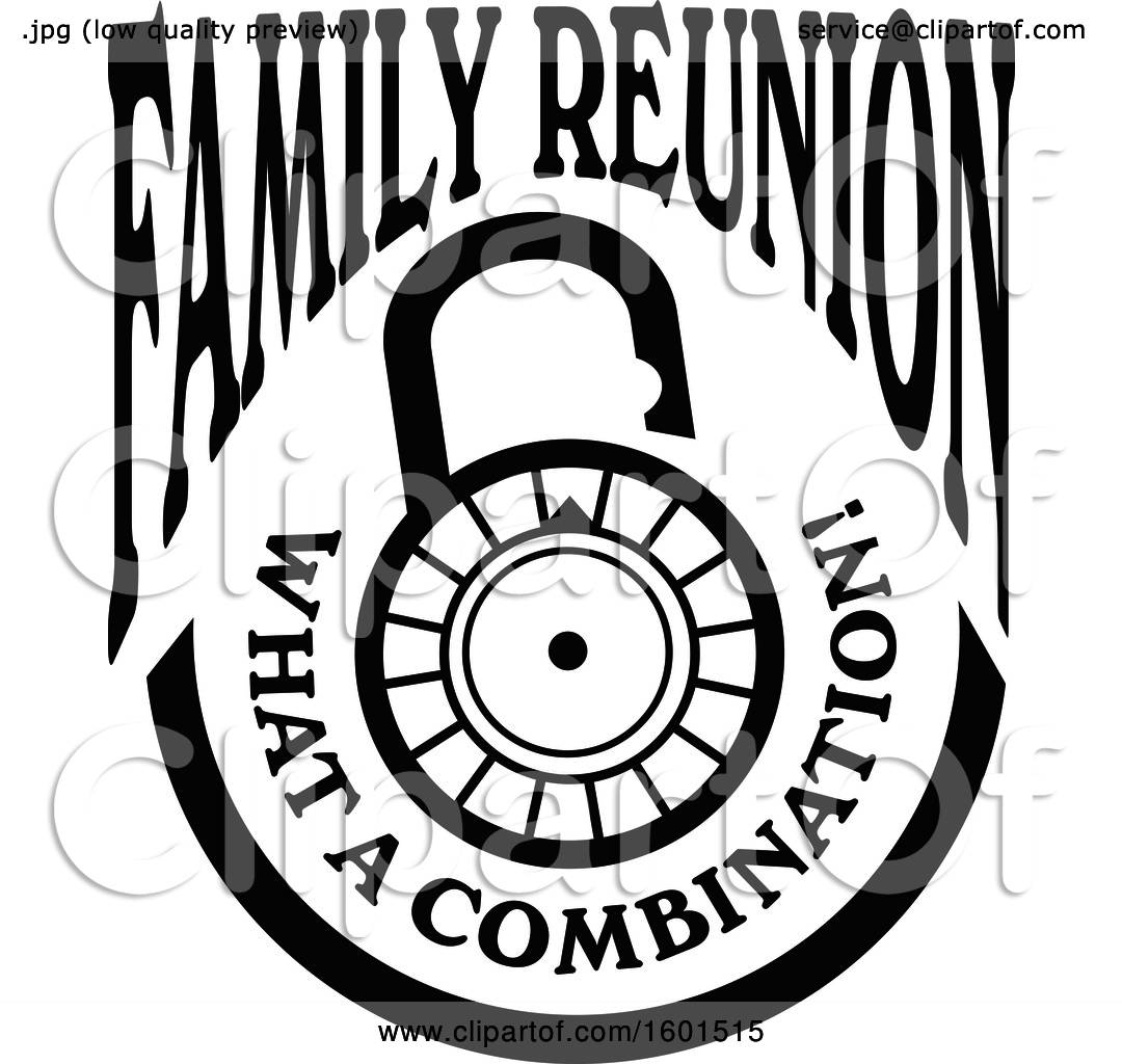 1080x1024 Clipart Of A Black And White Family Reunion What A Combination