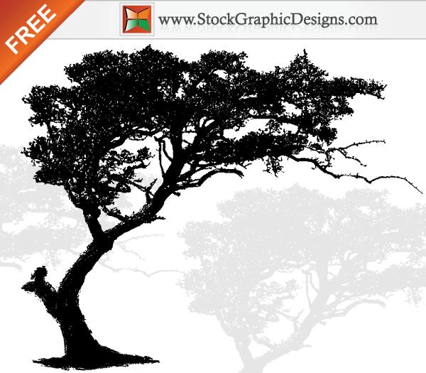 600x525 Free Vector Art Tree Silhouette Dope Tattoo Free