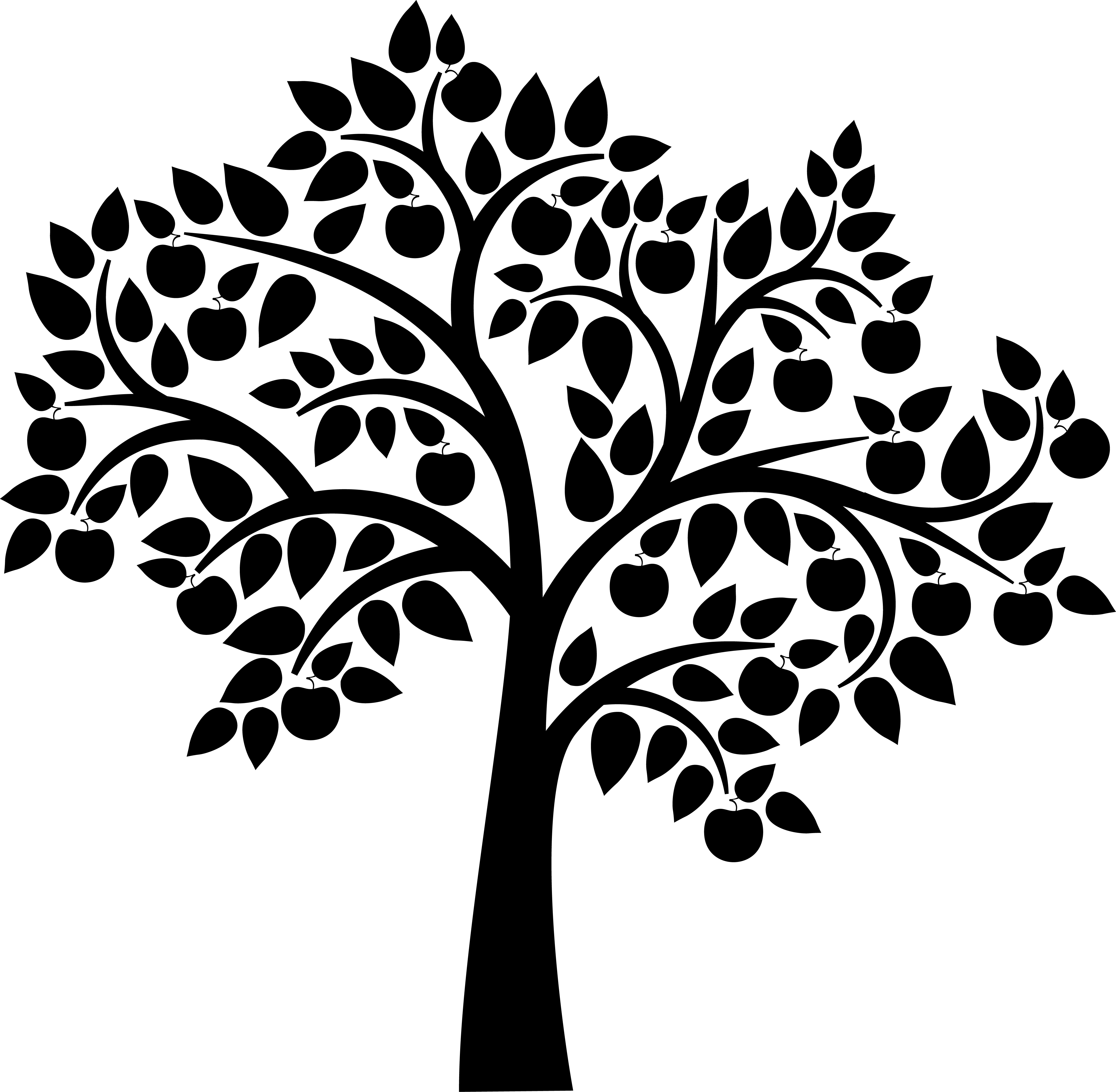 4523x4424 Graphic Freeuse Library Birds Tree Svg