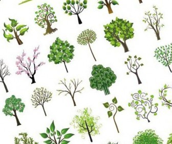 336x280 Tree Vector Art Graphics Set Free Download Social Media Site For