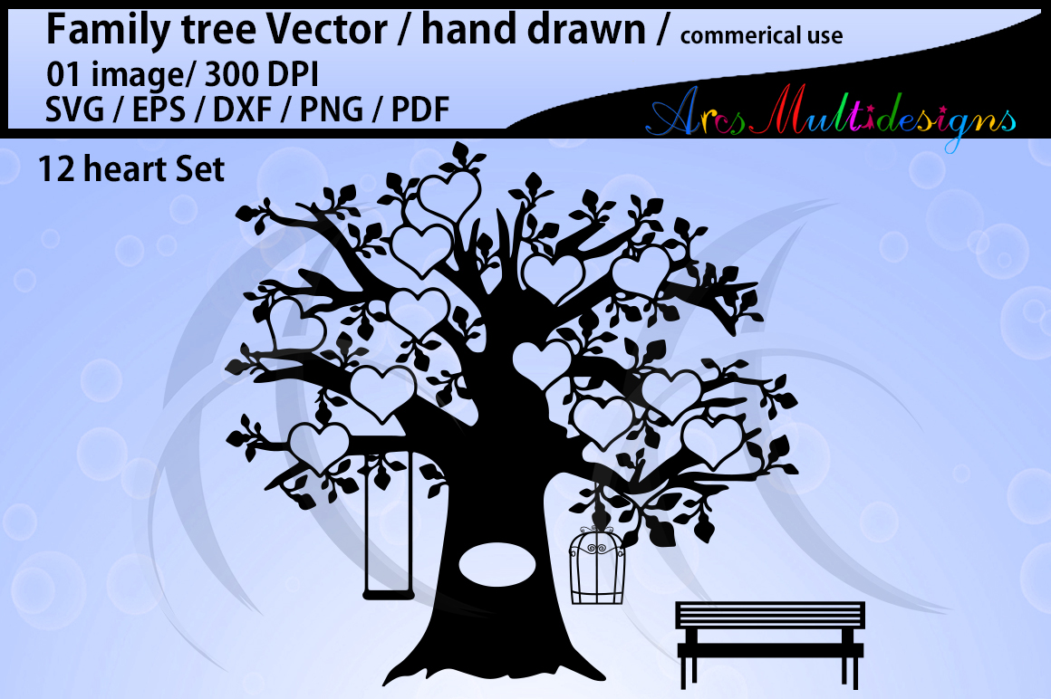 1160x772 Family Tree Clipart Svg, Eps, Dxf, Png, Pdf, Jpg Family Tree