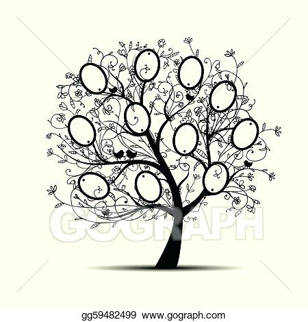 450x470 Family Tree Design Download Vector Family Tree Design With Frames