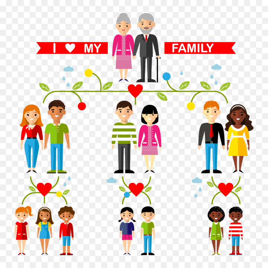 900x900 Download Family Tree Aunt Uncle Illustration Happy Family Vector
