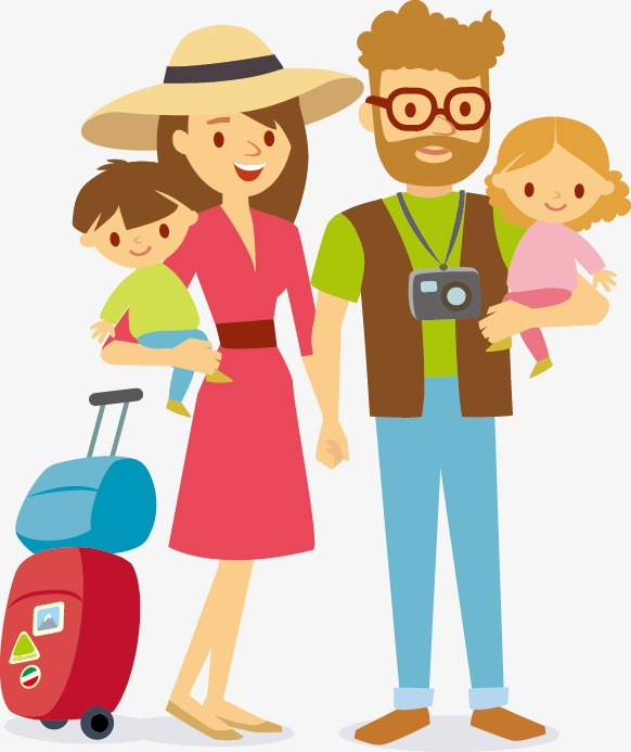 582x693 Family Travel, Travel, Character, Family Png And Vector For Free