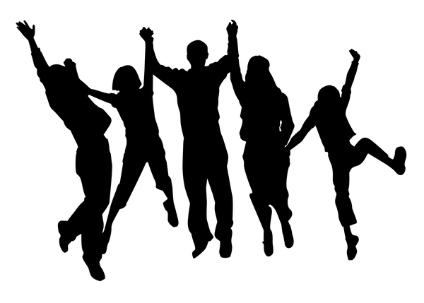 600x429 Cheering Shadow Family Free Images