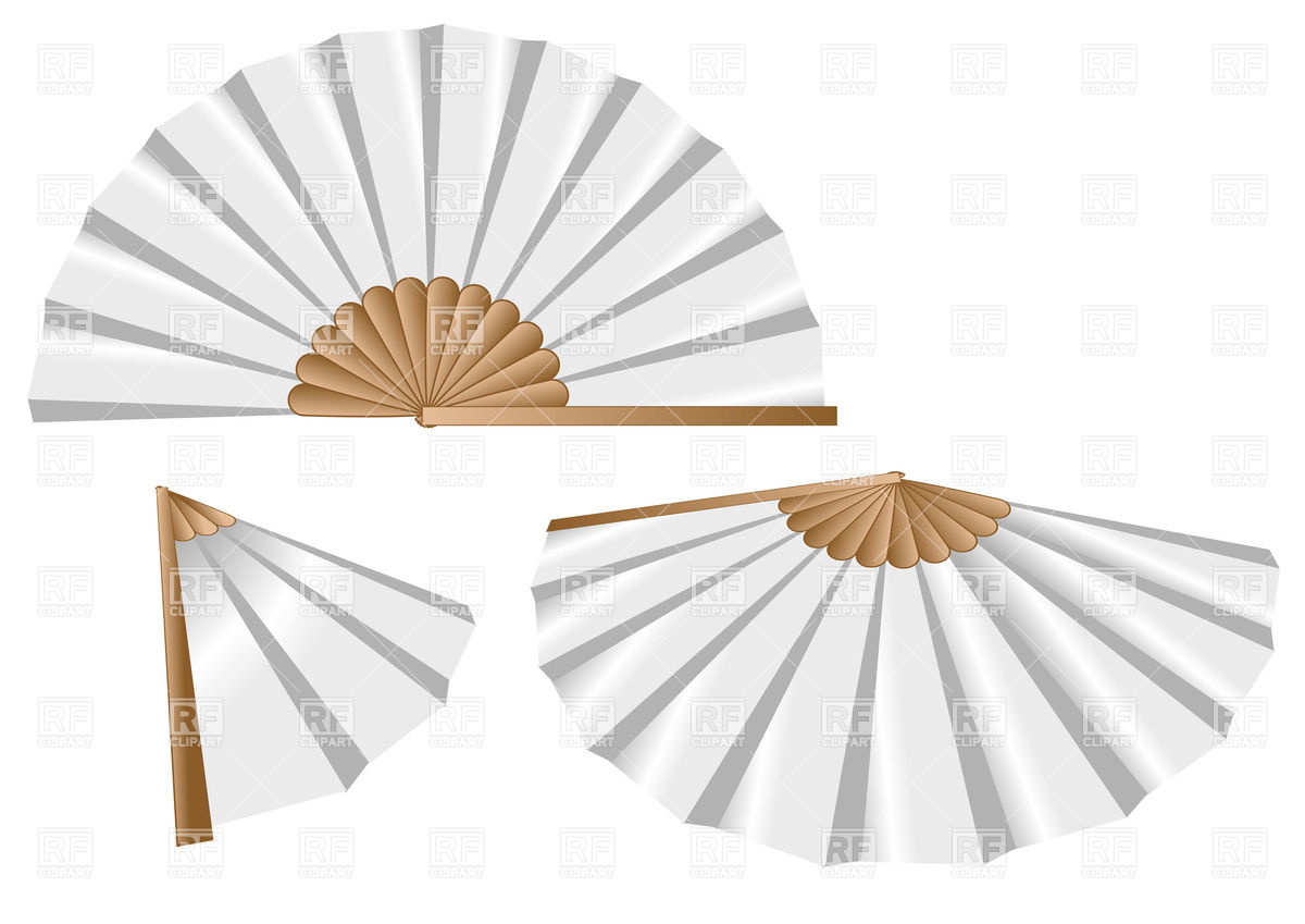 1200x849 White Oriental Fan Vector Image Vector Artwork Of Objects