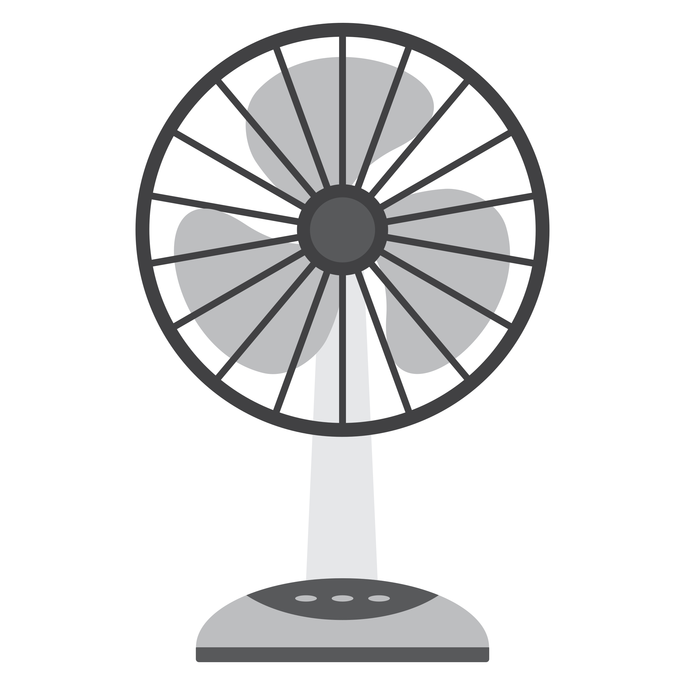 2400x2400 Electric Fan Vector Clipart Image