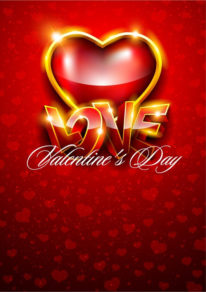 676x956 Fancy Valentine Background, Vector Graphics