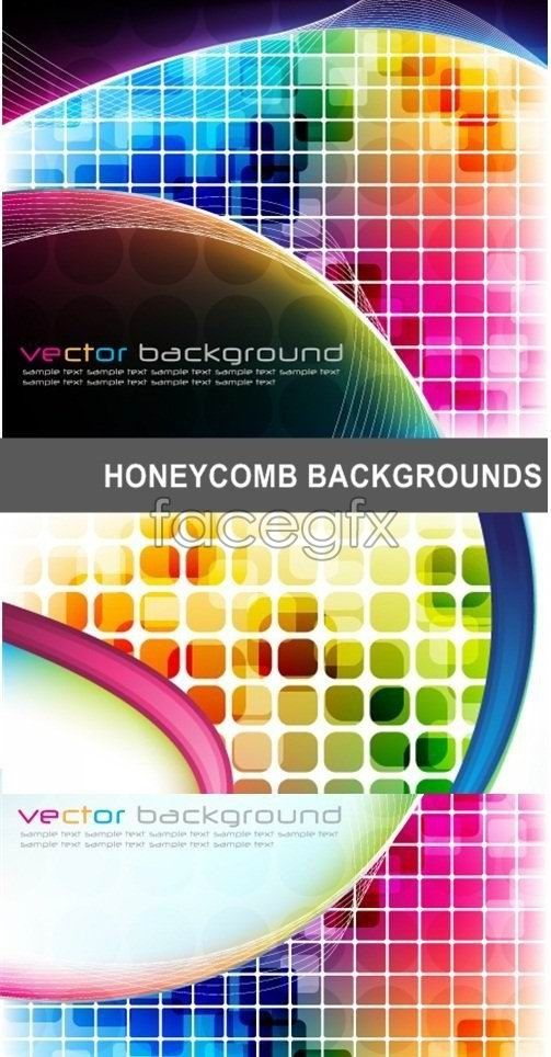 503x964 Fancy Technology Background Color Squares Vector Vector