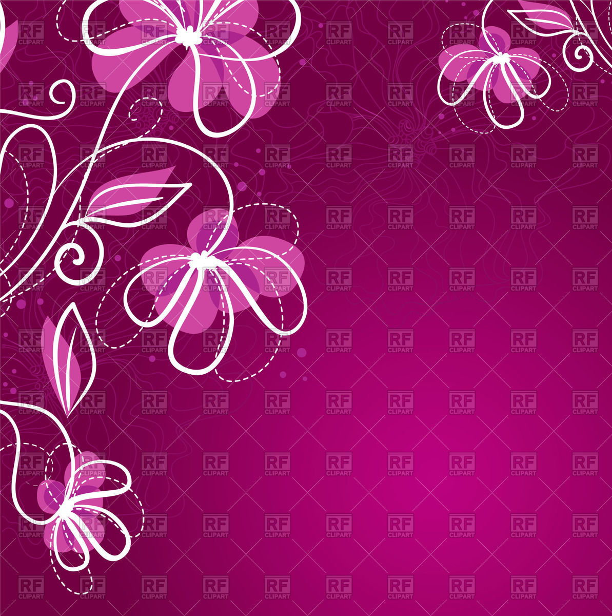 1193x1200 Simple Purple Floral Background Vector Image Vector Artwork Of