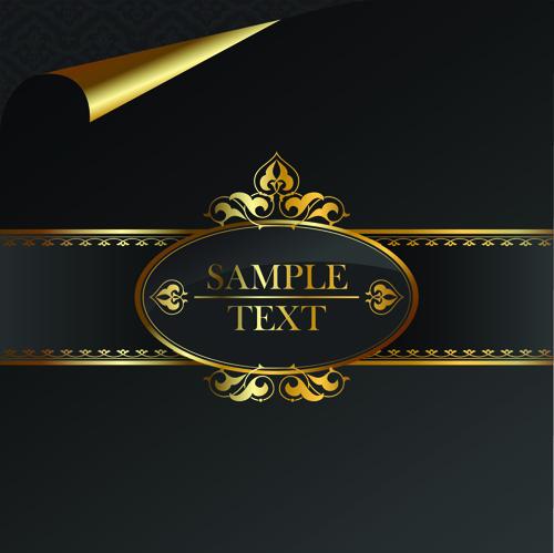 500x499 Black Golden Ornate Backgrounds Vector 04 Free Download