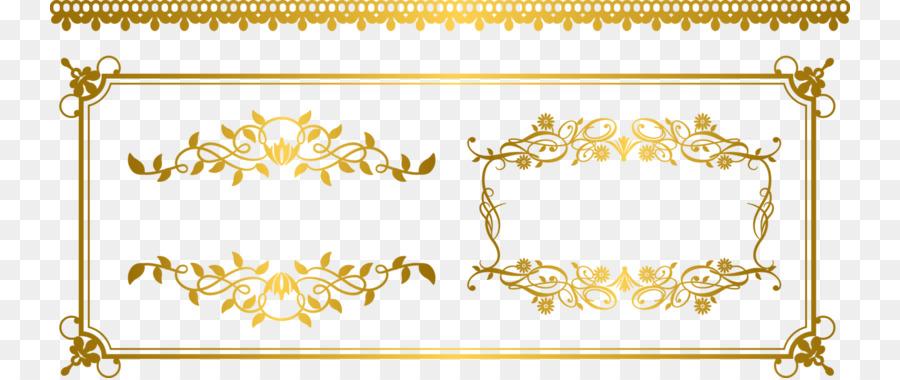 900x380 Gold Euclidean Vector Ornament