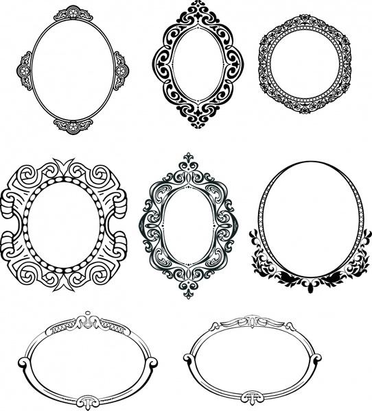 542x600 Mirror Border Templates Classical Elegant Symmetric Decor Free