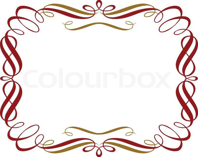 800x637 Retro Red Gold Border Stock Vector Colourbox