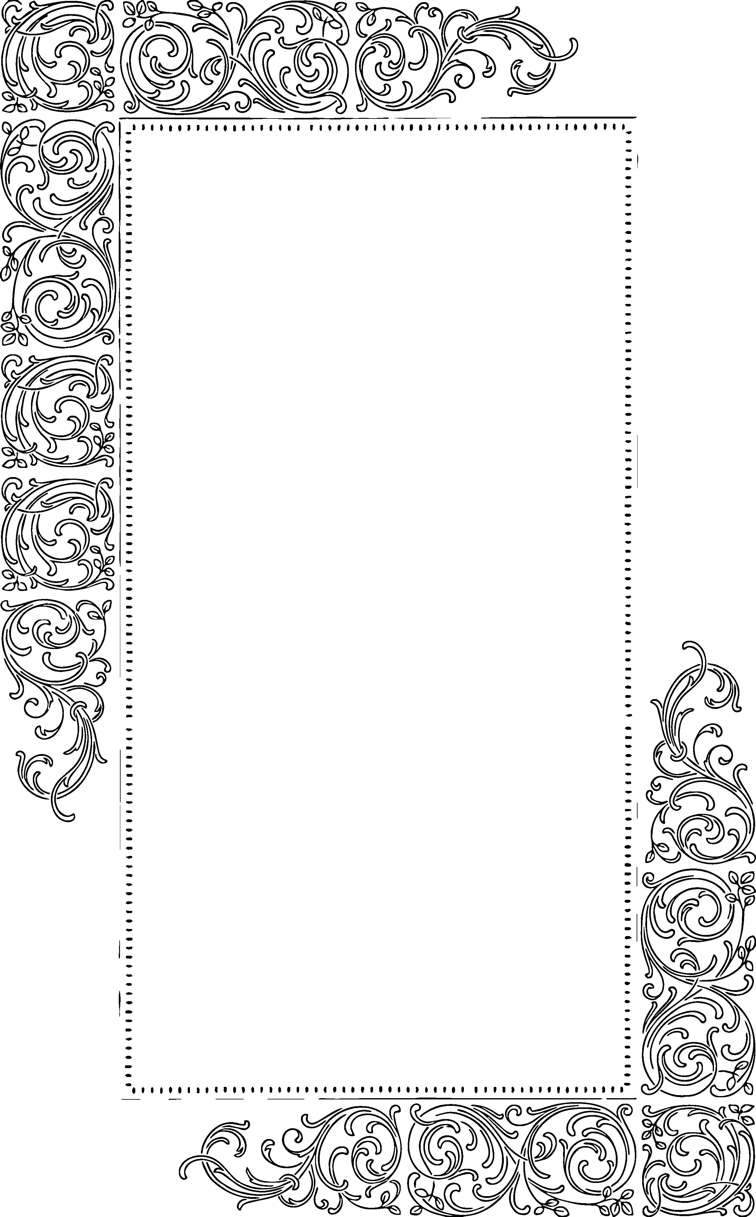 2464x3964 Borders Vector