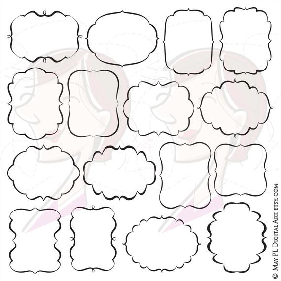 570x570 Fancy Frames Svg Vector Clipart Files Great To Make Labels Etsy