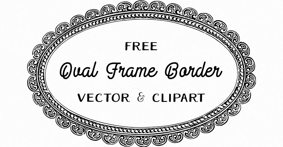 960x500 Fancy Oval Frame Vector Amp Clipart Oh So Nifty Vintage Graphics