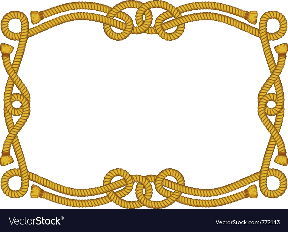1000x807 Fancy Rope Frame Vector 772143 19