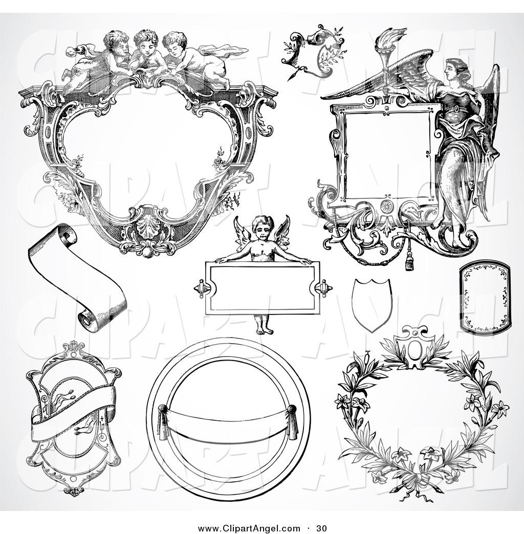 1024x1044 Illustration Vector Of A Digital Set Of Fancy Frame Design