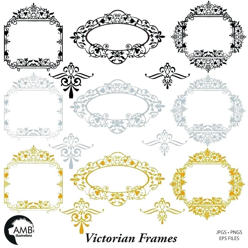 864x864 Victorian Silhouette Frames Frames Fancy Frames Frames Wedding