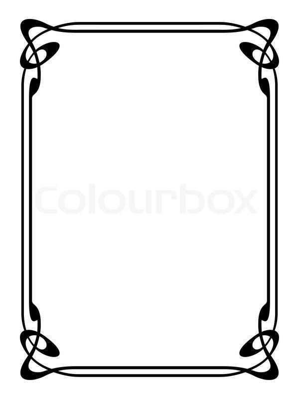 600x800 Art Nouveau Ornamental Decorative Frame Stock Vector Colourbox