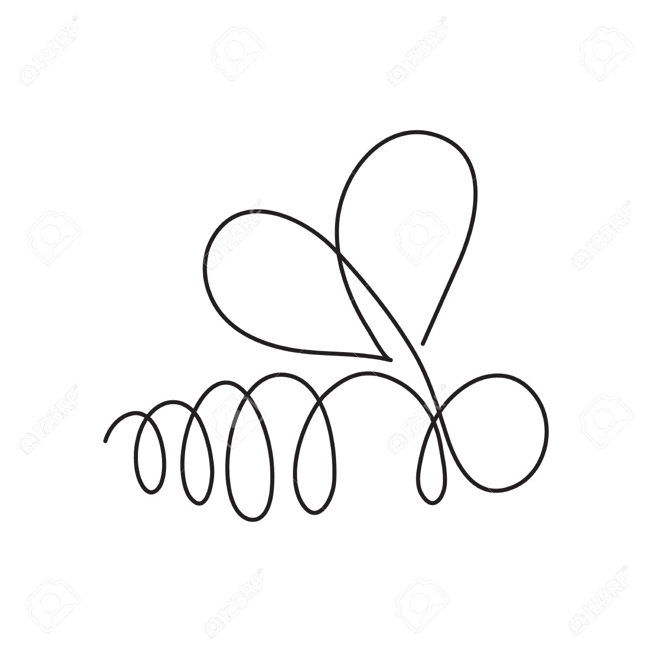 1300x1300 78677965 Continuous Line Bee Abstract Modern Decoration Vector