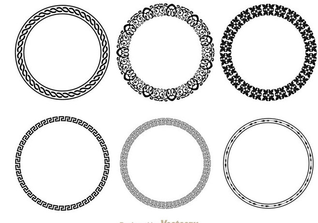 632x443 Circle Fancy Line Decoration Free Vector Download 200591 Cannypic