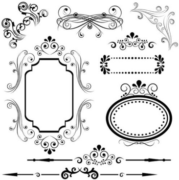 366x368 Fancy Line Border Free Vector Download (14,695 Free Vector) For