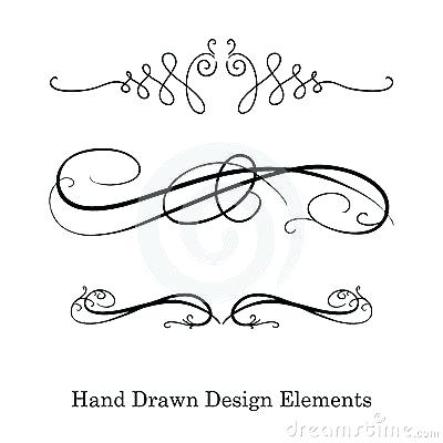 400x400 Swirl Divider Vector Design Element Beautiful Fancy Curls And