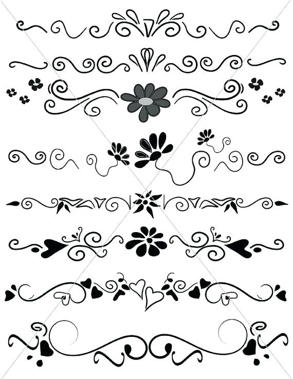 570x738 Fancy Divider Vector Design Element Beautiful Fancy Curls And