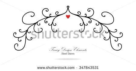 450x236 Vector Design Element, Beautiful Fancy Curls And Swirls Divider Or