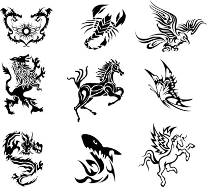 407x368 Legend Fantasy Creature For Tattoo Png Images, Backgrounds And