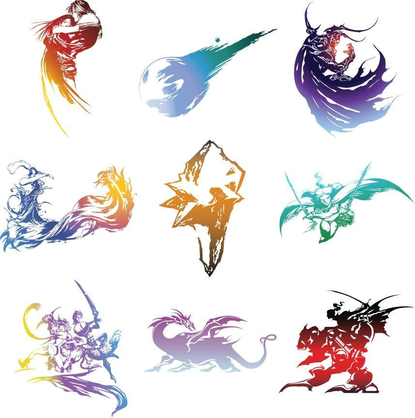 857x862 Some Final Fantasy Logo Without Title (Vector Logo) Tattoo