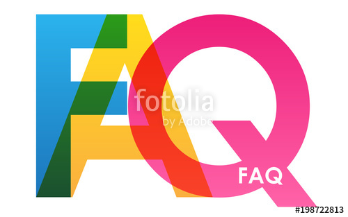 500x313 Faq Vector Multicoloured Letters Icon Stock Image And Royalty
