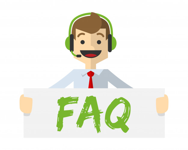 626x500 Customer Service With Faq Board Vector Premium Download