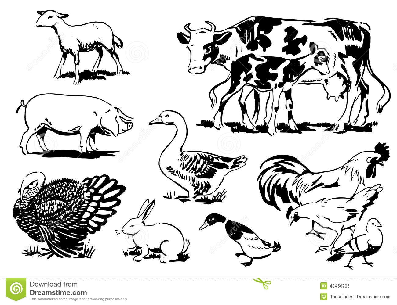 Farm Vector Black And White