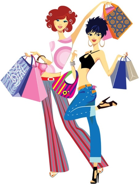 451x600 Fashion Girl Illustrator 05 Vector Free Vector In Encapsulated