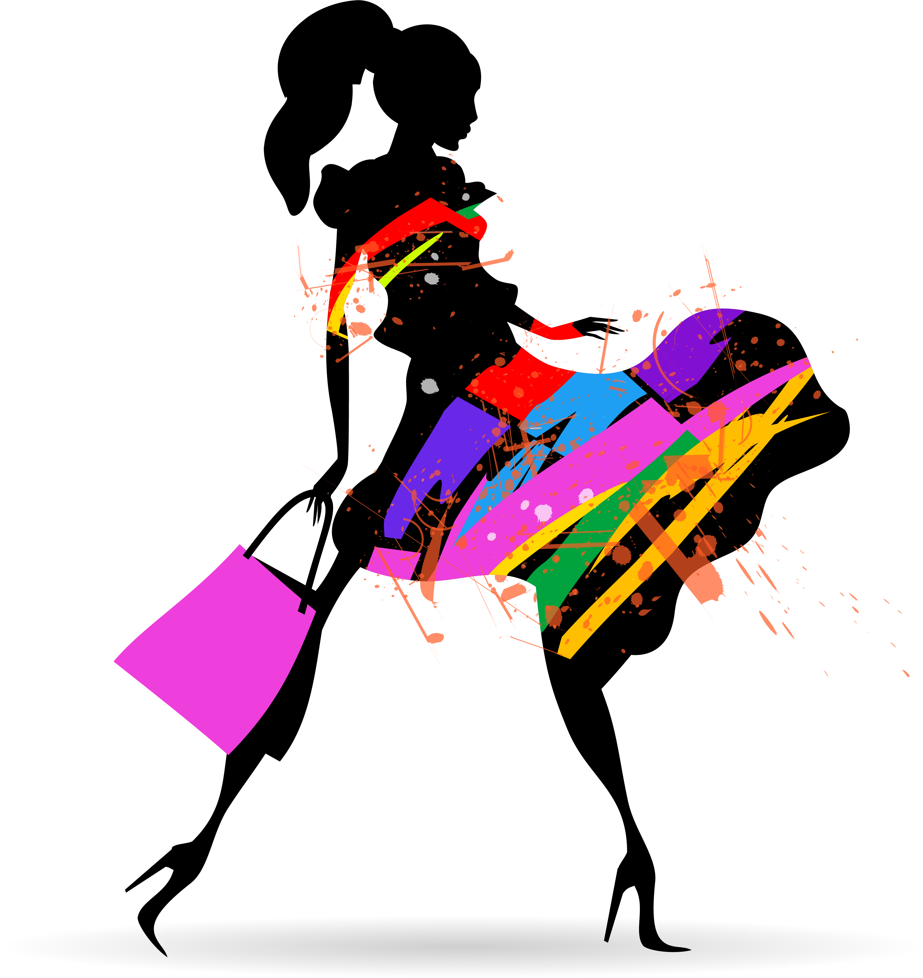3625x3838 Fashion Girl With Shopping Vectors 10 Free Download
