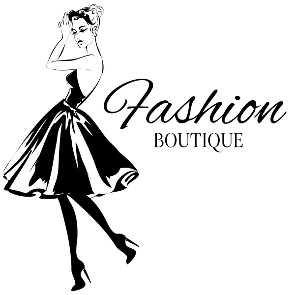 600x600 Girl With Fashion Boutique Illustration Vector 05 Free Download