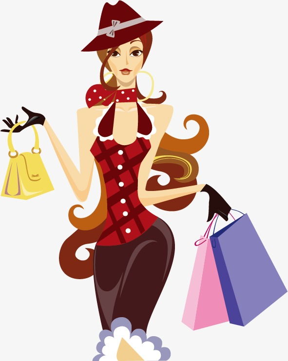 591x741 Shopping Woman Fashion, Shopping Vector, Woman Vector, Fashion